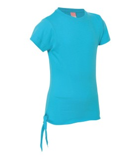 LAT 2625 Girls' Fine Jersey Side-Tie T-Shirt