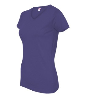 LAT 3507 Ladies' Fine Jersey V-Neck T-Shirt