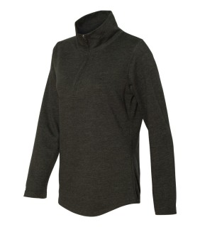 LAT 3764 Ladies' French Terry Quarter-Zip Pullover