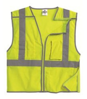 Vest With Reflective Edging