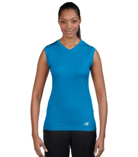 N7117L New Balance Ladies' Ndurance Athletic V-Neck T-Shirt
