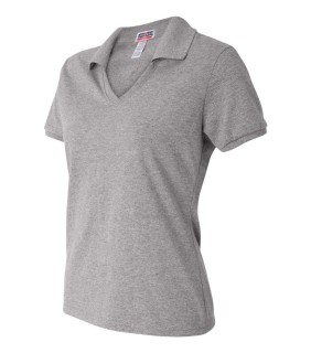 Jerzeez 337W SpotShield™ 50/50 Ladies' Johnny Collar Polo