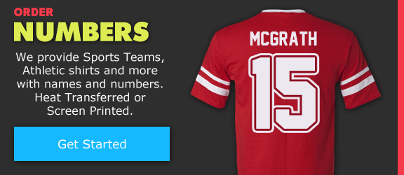 Custom Jersey Names and Numbers